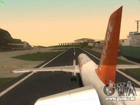 Airbus A320-214 EasyJet pour GTA San Andreas moteur