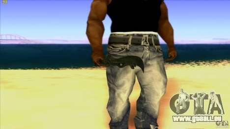 Chinese Knife from Far Cry 3 pour GTA San Andreas troisième écran
