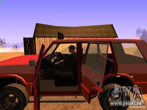 Huntley Superior für GTA San Andreas Unteransicht