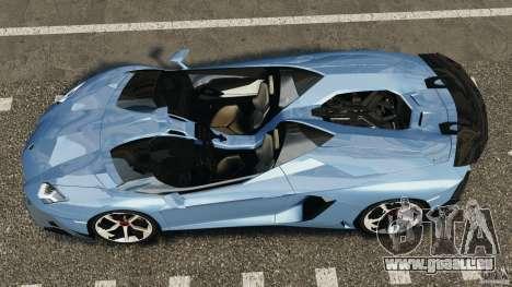 Lamborghini Aventador J 2012 pour GTA 4 est un droit