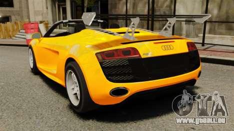 Audi R8 Spyder für GTA 4 hinten links Ansicht