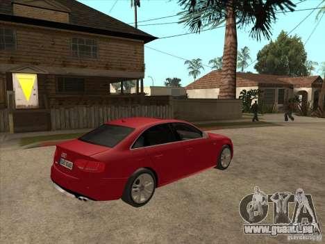 Audi S4 2010 pour GTA San Andreas vue de droite