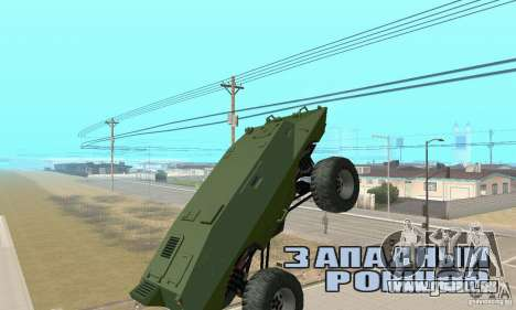 Trail Monster V.1.0 pour GTA San Andreas vue arrière