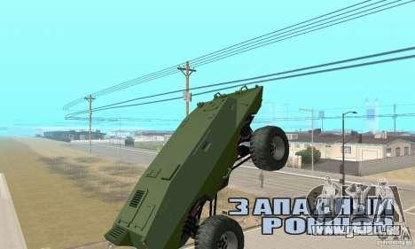 Trail Monster V.1.0 für GTA San Andreas Rückansicht