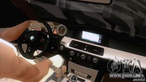 BMW M5 2009 pour GTA San Andreas salon