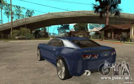 Chevrolet Camaro Concept Tunable für GTA San Andreas zurück linke Ansicht
