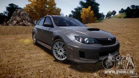 Subaru Impreza WRX STi 2011 pour GTA 4 est une vue de dessous