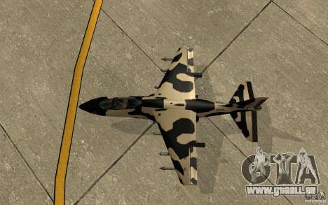 Camo Hydra für GTA San Andreas Rückansicht