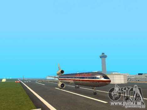 McDonell Douglas MD11 American Airlines für GTA San Andreas linke Ansicht