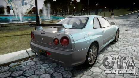 Nissan Skyline GT-R R34 2002 v1 pour GTA 4 est un côté