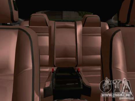 BMW X6 LT pour GTA San Andreas vue intérieure