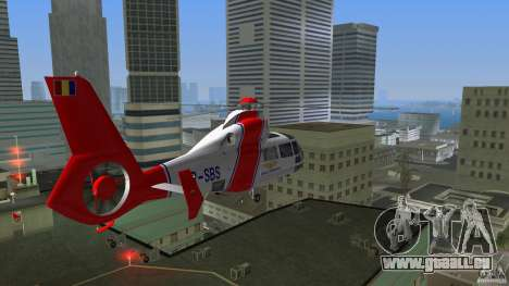 Eurocopter As-365N Dauphin II für GTA Vice City Innenansicht