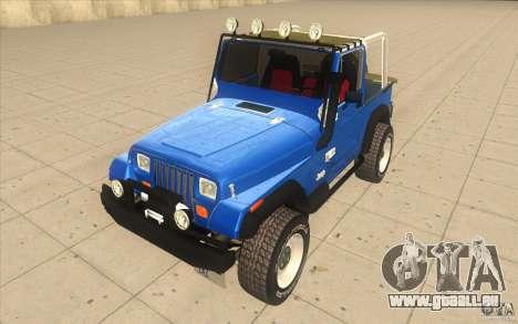 Jeep Wrangler 4.0 Fury 1986 pour GTA San Andreas