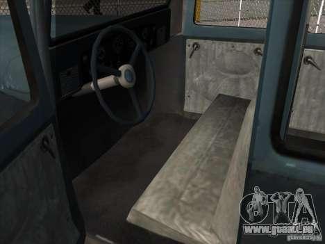 Le véhicule de la seconde guerre mondiale pour GTA San Andreas vue intérieure