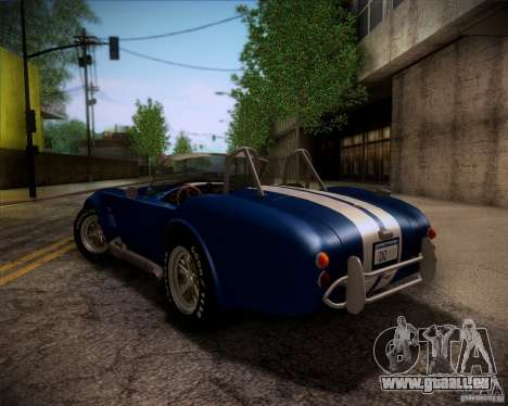 Shelby Cobra 427 Full Tunable für GTA San Andreas obere Ansicht