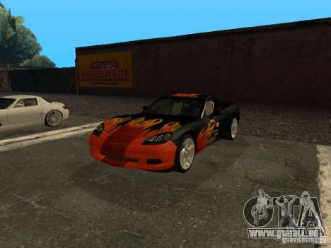 Chevrolet Corvette C6 pour GTA San Andreas vue de côté