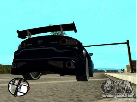 Mazda RX8 für GTA San Andreas Unteransicht