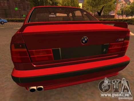 BMW M5 E34 pour GTA San Andreas vue de dessous