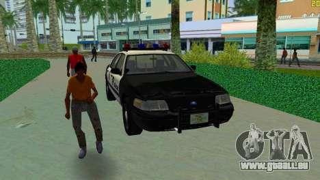 Ford Crown Victoria Police 2003 für GTA Vice City Rückansicht