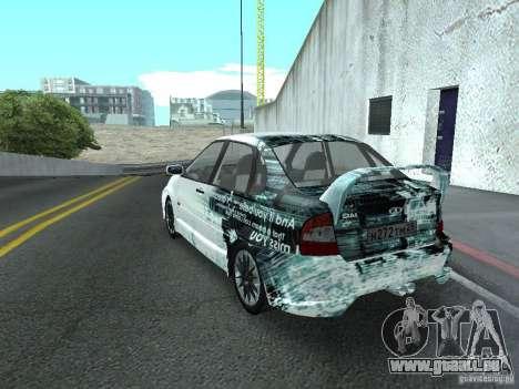 Kalina 1118 VAZ pour GTA San Andreas vue de dessus