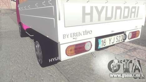 Hyundai H100 Kamyonet pour GTA San Andreas sur la vue arrière gauche