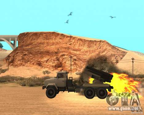 KrAZ-63211 JAMZ c. 1 pour GTA San Andreas laissé vue