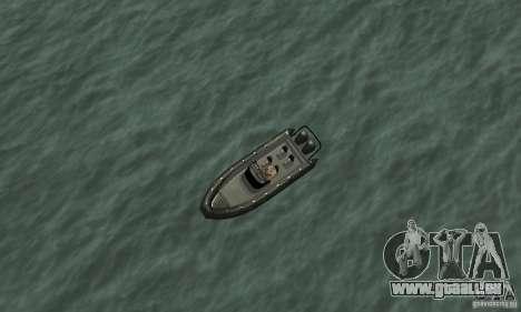 GTAIV Dinghy pour GTA San Andreas vue de droite