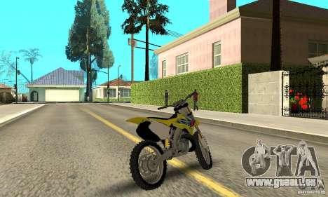 Suzuki RM250 für GTA San Andreas linke Ansicht