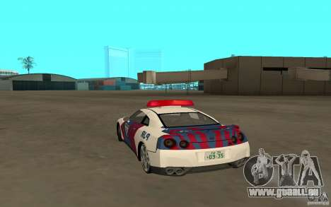 Nissan GT-R R35 Indonesia Police für GTA San Andreas linke Ansicht