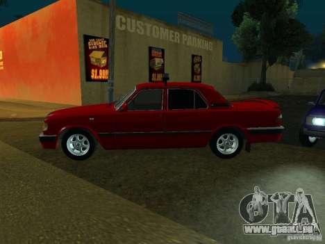 GAZ 3110 für GTA San Andreas zurück linke Ansicht