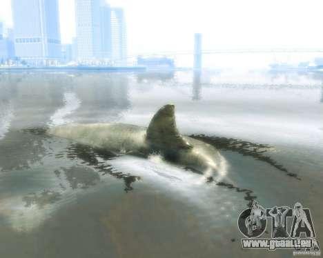 Megalodon pour GTA 4 Vue arrière de la gauche