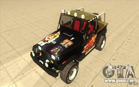 Jeep Wrangler 4.0 Fury 1986 pour GTA San Andreas vue arrière