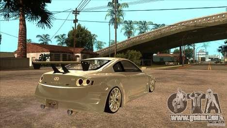 Infiniti G35 pour GTA San Andreas vue de droite