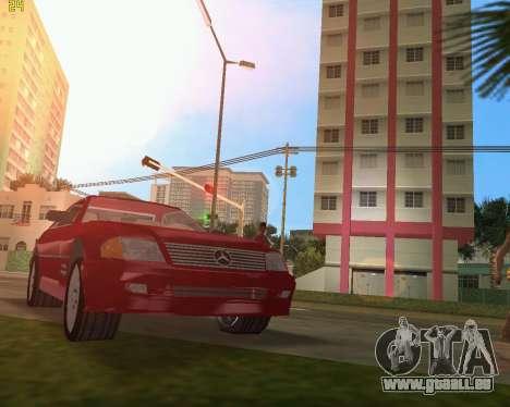 Mercedes-Benz SL600 1999 pour GTA Vice City vue arrière