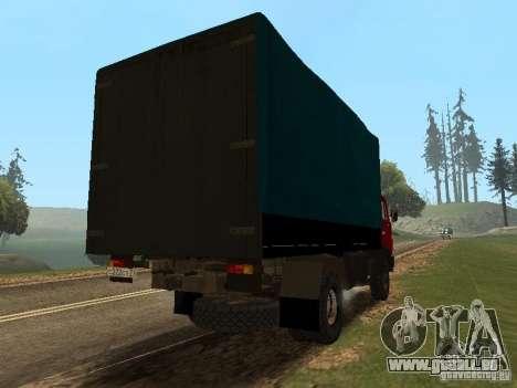 KAMAZ 5325 für GTA San Andreas zurück linke Ansicht