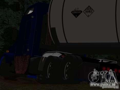 Kenwort T800 Carlile für GTA San Andreas Unteransicht
