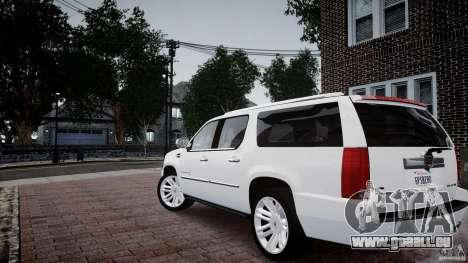 Cadillac Escalade ESV pour GTA 4 est une gauche