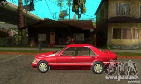 Mercedes-Benz S600 1999 pour GTA San Andreas sur la vue arrière gauche