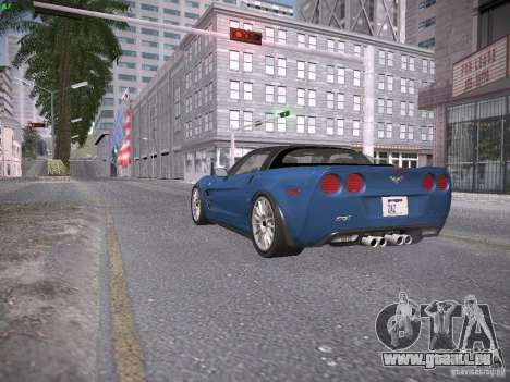 Chevrolet Corvette ZR1 pour GTA San Andreas vue intérieure