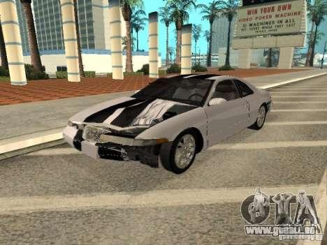 Lincoln Mark VIII 1996 pour GTA San Andreas vue de dessous