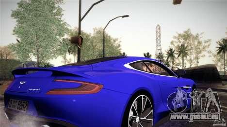 Aston Martin Vanquish V12 für GTA San Andreas Innenansicht