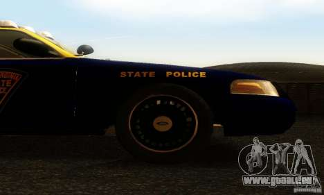 Ford Crown Victoria West Virginia Police pour GTA San Andreas vue de droite