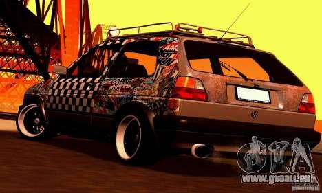 Volkswagen MK II GTI Rat Style Edition für GTA San Andreas Innenansicht