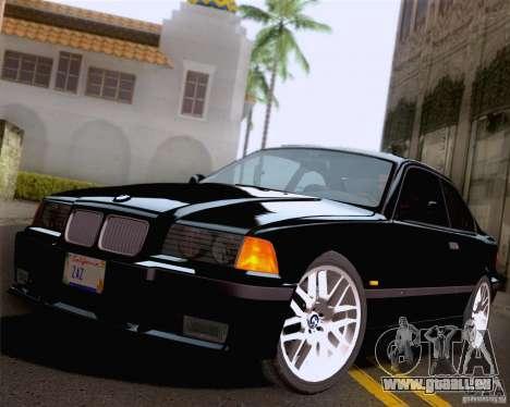 BMW M3 E36 New Wheels pour GTA San Andreas vue de dessous