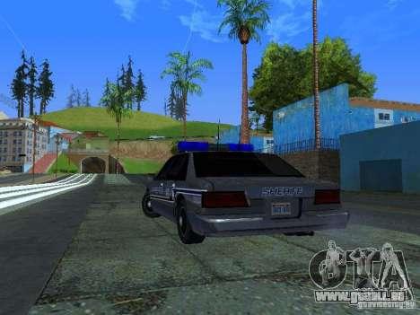 Lumpkin Country Sheriffs Office für GTA San Andreas zurück linke Ansicht