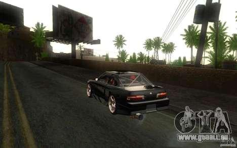 Nissan Silvia S13 Onevia für GTA San Andreas Rückansicht