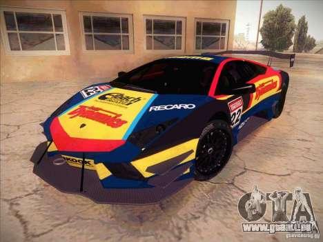 Lamborghini Reventon GT-R pour GTA San Andreas vue intérieure