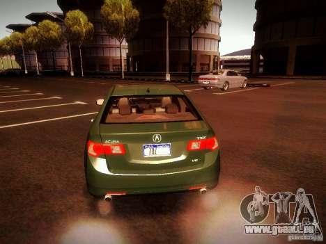 Acura TSX für GTA San Andreas zurück linke Ansicht