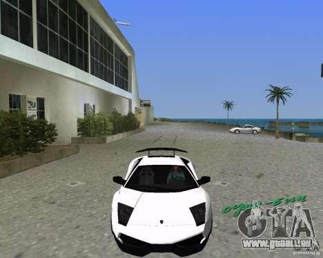 Lamborghini Murcielago LP670-4 SV pour une vue GTA Vice City de la gauche