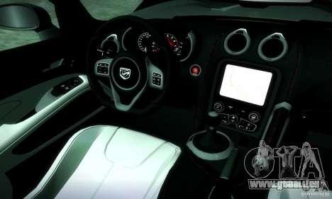 Dodge Viper SRT  GTS für GTA San Andreas Innenansicht